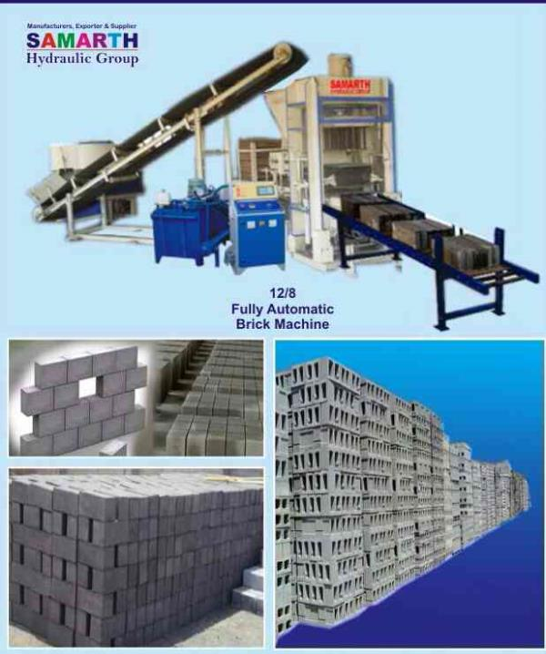 multi function brick making machine - by Samarth Hydraulic Group, Pune