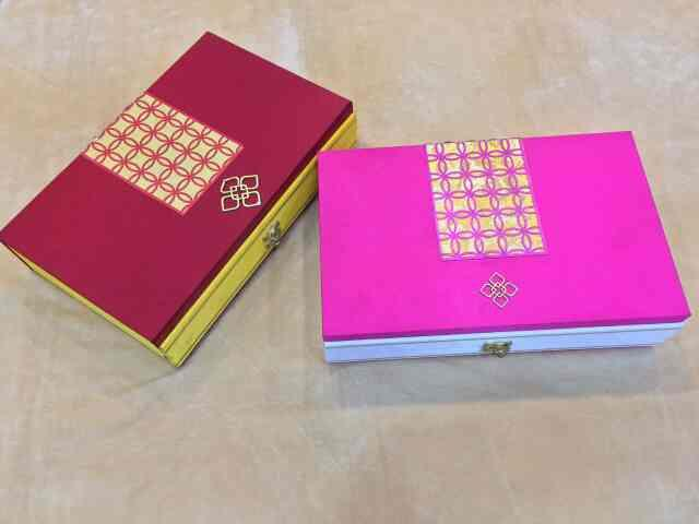 Lock Dry Fruit Box  Available with us is an attractive range to pack Lock Dry Fruit Box for gifting purpose.  These boxes only available from us in bulk quantities.   We are leading Manufacturer, Supplier, Wholesalers of Lock Dry Fruit Box in Delhi.