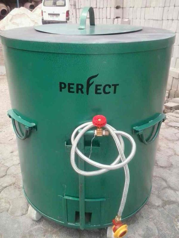 MS drum Tandoor with Gas fitting - by Perfect Tandoor, Khasra No. 28-29, Main Industrial Area, Badshahi Road, Khera Kslan, Delhi -110082