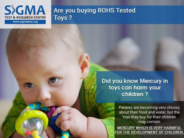 The safety of a child is an emotive subject, which is particularly close to the heart of every parent. When purchasing products for a child, product safety is an essential issue. Loose components, sharp edges, finger traps, the presence of  - by ROHS TEST LAB, West Delhi