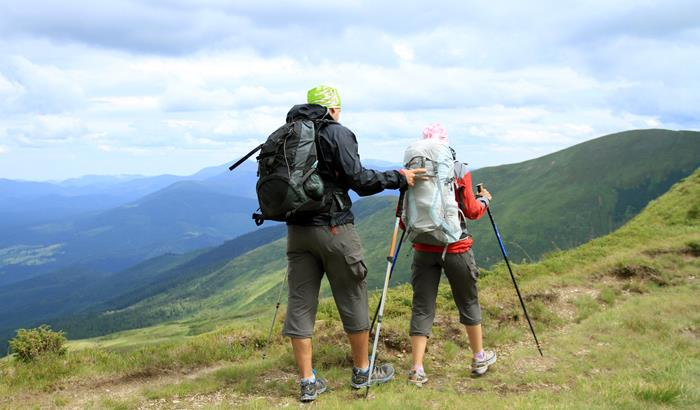 Trekking  Trekking can be defined as an adventrous long distance walk on hills, cross countries, touring. Trekking involves walking a long stretch of area with limited backpack, carrying our own tents, food, and other essentials. It involve - by 1800 Sports, Pune