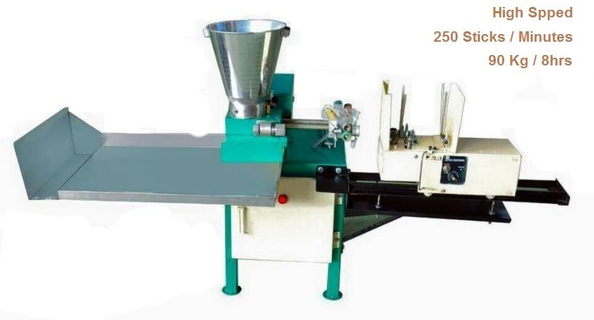 Our company is recognized as a leading supplier of supreme quality Agarbatti Making Machine. We offer these machines with manual as well as with automatic mechanism. Offered machine is used in numerous large and small industries for making incense sticks.