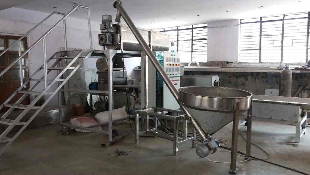 macaroni pasta automatic plant for making macaroni, pasta, vermicelli production capacity 300 kg/h. with 30 hp motor   - by Macaroni Pasta Machine Manufecturer, New Delhi