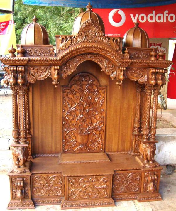 manufacturer in Jaipur wooden carving Temple in tick wood we have so many types of temple
