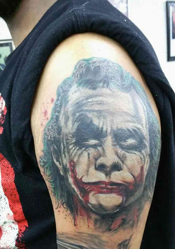 heath ledger portrait  - by kraayonz Tattoo Studios, Bengaluru