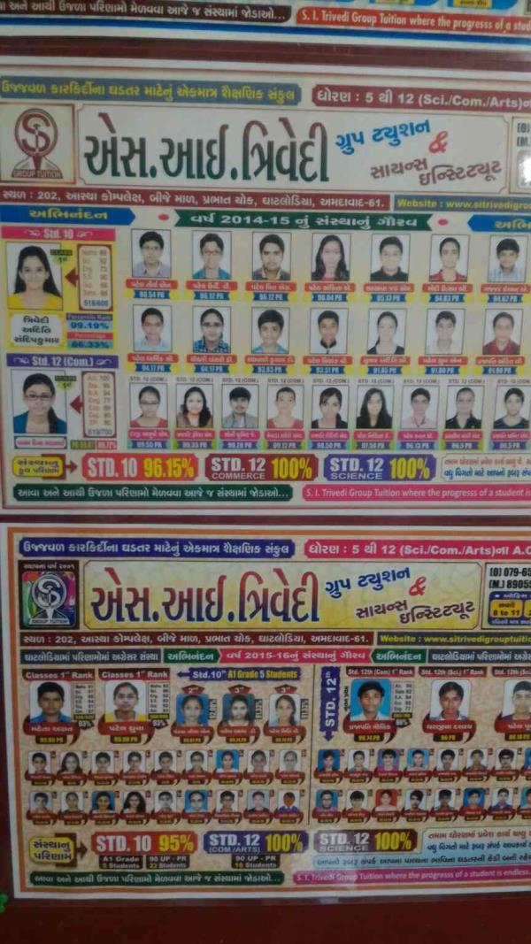 Toppers of S.I. Trivedi GROUP TUITION   - by S. I. TRIVEDI GROUP TUITION ,  Ahmedabad