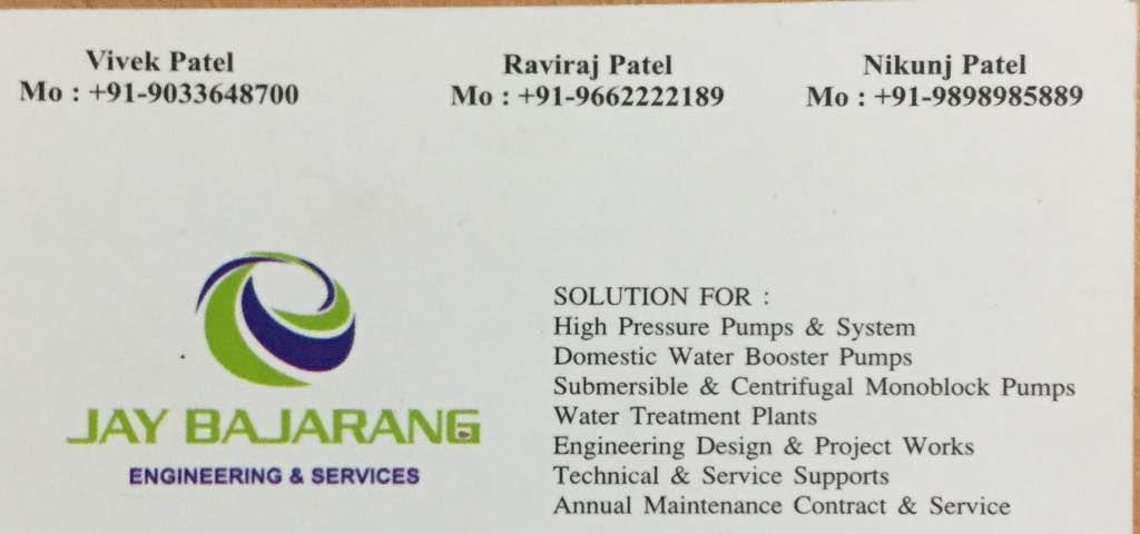 We are providing best product and after sales services in India  Plz contact for high pressure pumps a don systems - by JAY BAJARANG ENGINEERING AND SERVICES, Ahmedabad