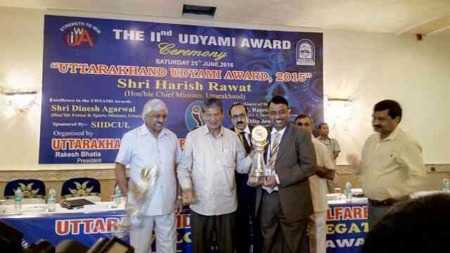 Congratulations for Business Award to our Managing Director by Honorable Chief Minister Utrakhand.........