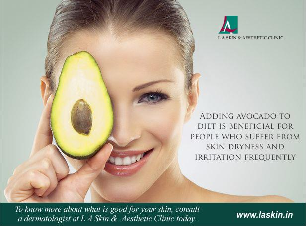 Adding avocado to diet is beneficial for people who suffer from skin dryness and irritation frequently.  To know more about what is good for your skin, consult a dermatologist at L A Skin and Aesthetic Clinic today. #LAskin #la #las - by L A Skin & Aesthetic Clinic, New Delhi