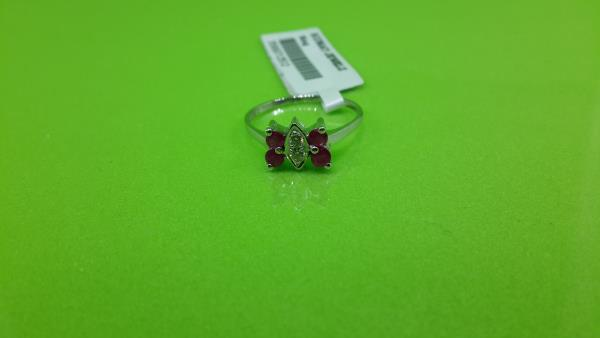 Ruby and Diamond Ring at Just Rs.8500/-  - by Kumat Jewelz, Indore