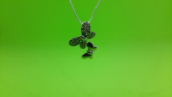 Diamond pendant in White Gold. Just for Rs. 9560/- - by Kumat Jewelz, Indore