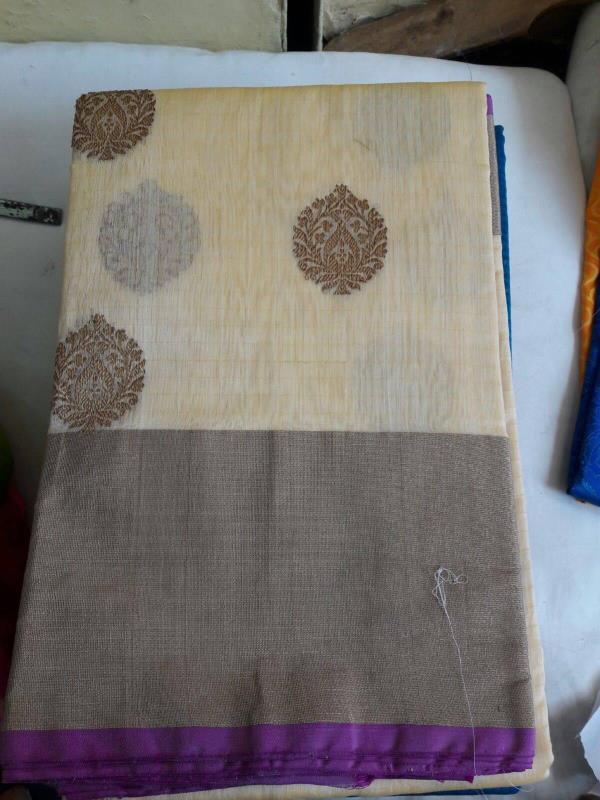 #Handloom #linen #saree