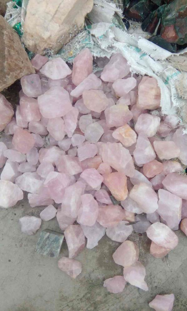 Rose Quartz raw - by Raj Arts, Jaipur