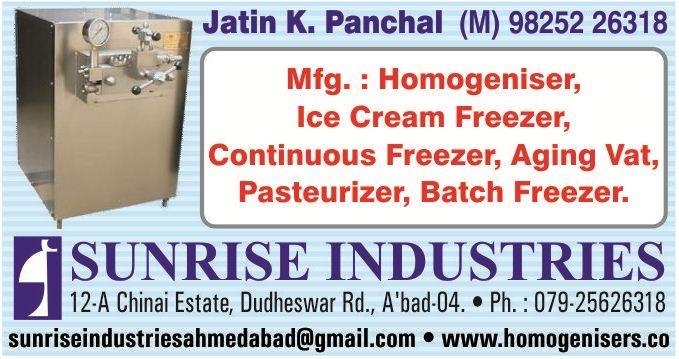 ICE CREAM HOMOGENIZER IS A MUST FOR EVERY ICE CREAM  MANUFACTURERS. IT GIVES RICHER TASTES & BETTER TEXTURES. ICE REAM HOMOGENIZER SUPPLIED TO AHMEDABAD, , BARODA, SURAT, RAJKOT, MUMBAI, AMRITSAR,  WEST BENGAL, PATNA, RAJASTHAN, ETC.  - by MFG, HOMOGENIZER & TEXTILE INSTRUMENTS, Ahmedabad