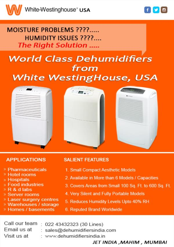 DEHUMIDIFIERS WHITE WESTING HOUSE MOSITURE PROBLEMS?????????????? HUMIDITY PROBLEM????????? THE RIGHT SOLUTIONS.................  WORLD CLASS DEHUMIDIFIERS FROM WHITE WESTING HOUSE USA.