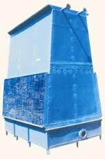 """frame, heavy duty, sturdy design needing no """"heavy"""" foundation. delta t upto 12 deg c can be achieved by this type of cooling tower. +advantage against fan type cooling tower :- no fan-gear box-motor -fan power saved, maintenance cost sav - by Ashray Engineers, Vadodara"""