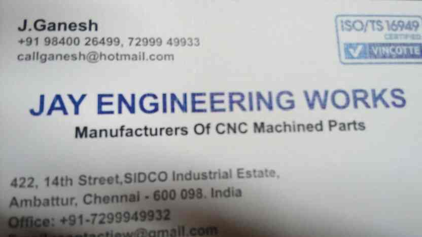 CNc - by JAY ENGINEERING WORKS , Chennai