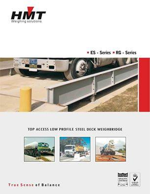HMT Heavy Duty Weighbridge  Toughness Guaranteed!!!  Your truck scale is your cash register. Raw materials come in and finished products go out, so having an accurate and dependable truck scale is essential to the success of your operation. A truck scale is a long-term investment that, with reasonable care, should easily provide 25 years or more of dependable service. There are a variety of options in the truck scale market today, and to the casual observer, initial acquisition price may be the only differentiator. However, manufacturers promising great bargains are able to do so only because they've cut corners at some stage of the process; be it design, materials, components, finish or all of the above. While the price may seem attractive now, the eventual failure of a lower quality truck scale could mean a higher Total Cost of Ownership, meaning extensive downtime, increased maintenance costs and lost revenue. The differences between an exceptional quality scale and primarily price driven models aren't always apparent. Unfortunately, the most critical differences are rarely realised until it's too late.  Features   Made from IS : 2062 Structural Steel Top Deck with adequate thickness Mild Steel Plates with adequate section suitably ribbed to avoid skidding  Designed for 150% ultimate Overload Rated Capacity.  Analog and Digital Load Cell Technology  Alloy Steel or 17 - 4 ph Stainless Steel load cells with Ip68, Hermetically Sealed with inert Gas filled  Can be Installed either in a pit or on the ground surface  Maintenance free and reliable giving low cost ownership  Minimal foundations / Civil works requirements  Weighbridge Software for easy tracking of in & out  Customised Platform size and capacity available Applications   Asphalt plants (road construction)  Chemical  Cement  Quarry & Coal mines  Ports of entry  Concrete plants  Timber mills  Dairy farms  Transfer stations  Agriculture & Farming  Transportation companies  Petrochemical companies  Public Weigh