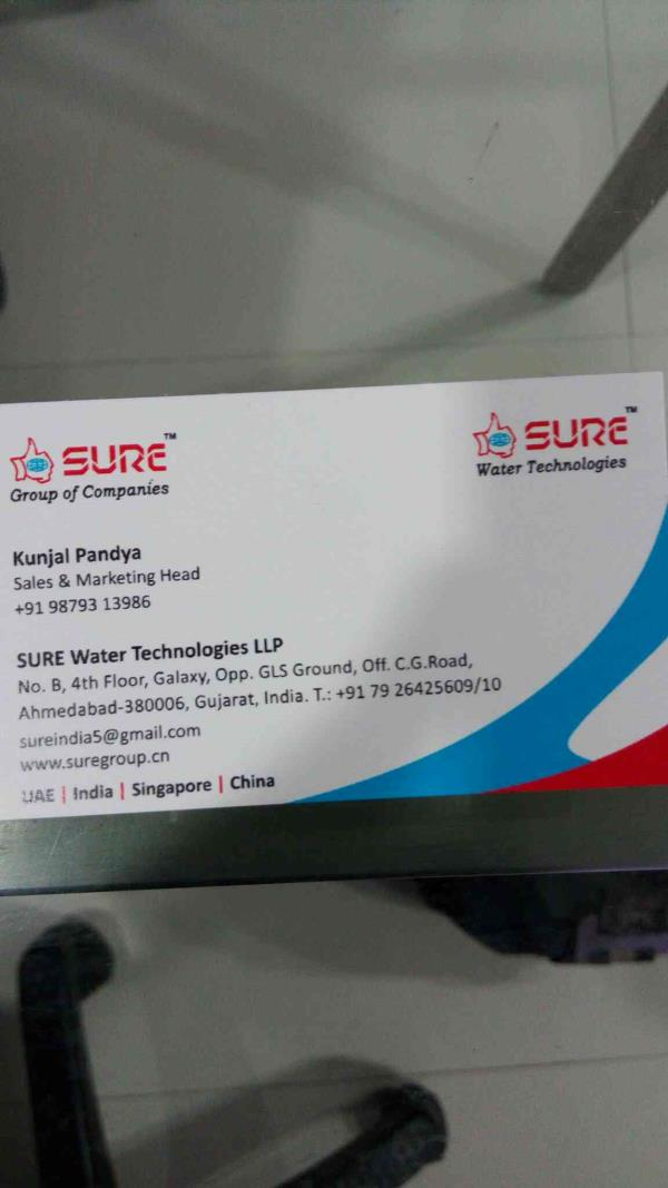 Are you looking for domestic water RO system??   Come to us at Sure Water Technologies we provide you best quality RO purifier by understanding your need for better health and safety!  Call us @ 9879313986 - by Sure Water Technologies, Ahmedabad