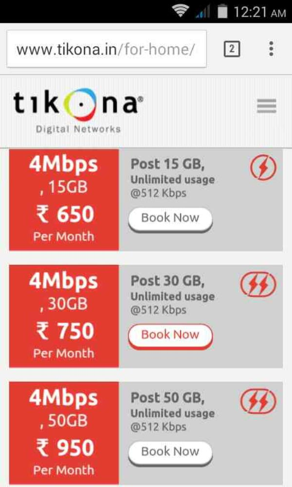 PLANS - by Tikona Internet Provider Dwarka,palam +919718387660, Dwarka Sec-1 New Delhi