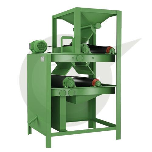 Magnetic Roll Separator  The Magnetic Roll Separator purifies dry inputs of small particle size from ferrous contents. The Magnetic Roll Separator is used widely in mining industry which deals with magnesite, silica, quarts, feldspar etc., in recycling plants and in many other industries.
