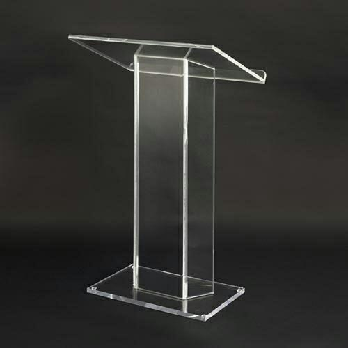 Acrylic Podium  Ray Display Systems are a leading manufacturer of Acrylic Podium.  We are located in Vadodara, Gujarat.  We are a leading suppliers of Acylic Podium in Jaipur, Rajasthan.