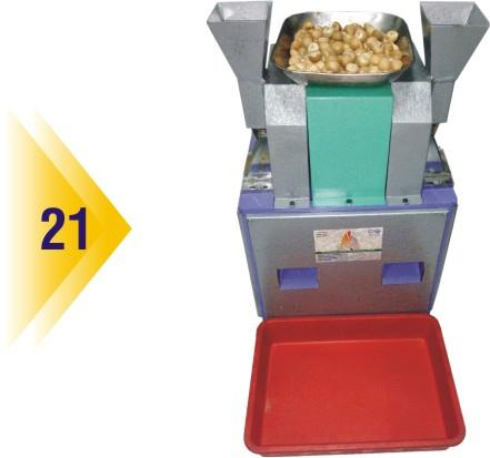 Automatic Hopper Type Big Bull Betel Nut Cutting Machine Specifications:  1.0 Hp Motor, Single Phase, 1440 Rpm, 50 Hz Production Capacity : 70 To 75 Kg / Hrs Wight : 100 Kg Dimension : L = 20