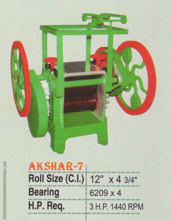 Heavy duty sugarcane juice machine  - by Akshar Engineering, Rajkot