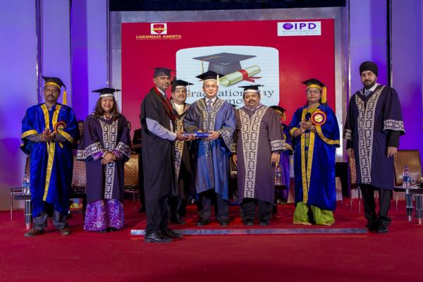 No.1 Hotel Management College in Tamilnadu  Chennais Amirta celebrates their 2nd Graduation Day Ceremony on 10th August 2016 at Kamarajar Arangam, Anna Salai, Chennai. Professor DATO Dr. Mansor Fadzil, Vice Chancellor of OUM University, Malaysia has honoured to deliver the Graduation Day Special Address and distribute the degrees and medals to the students.