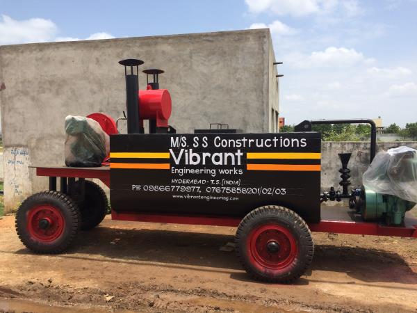 At vibrant we manufacture Bitumen sprayers of two types 1. Trolley mounted bitumen sprayer 2.Truck mounted bitumen sprayer.