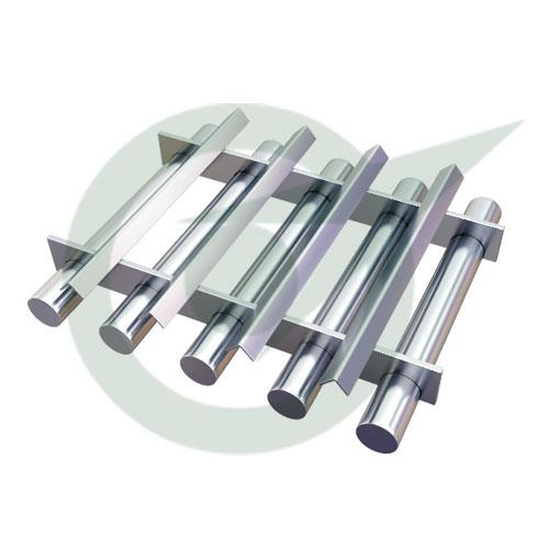 A popular Manufacturer and Supplier of Grate Magnets is Star Trace, who is based in Chennai. Grate Magnets are available in circular and square shapes to fit exactly into the hopper. Entry level iron impurities are trapped here.