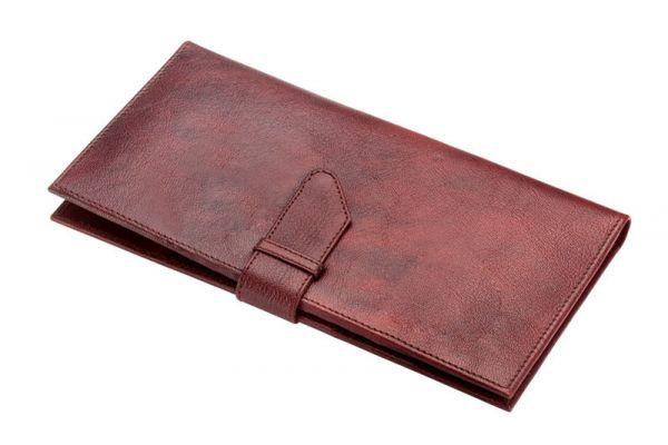 KK 72415 Leather Goat Passport Holder - by Kakkoo Birdy's -Leather Gift Items, New Delhi