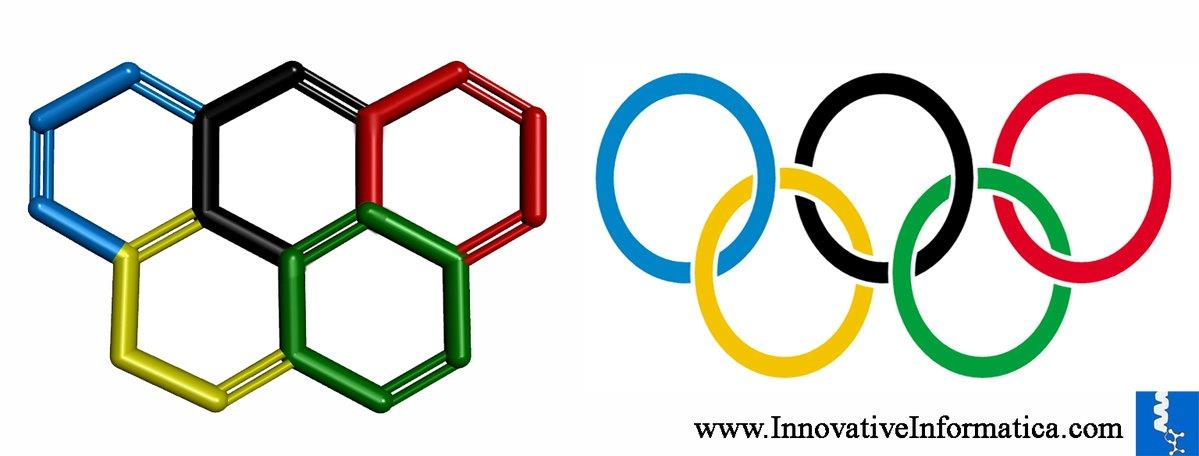 #Olympics logo inspired #chemical #compound #Olympicene. @InnoInformatica @BiotechKart #chemistry #molecularmodeling https://t.co/MCo4g4N1OB - by Innovative Informatica, Hyderabad