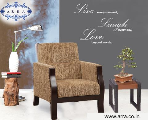 Valencia one seater sofa with great design and comfort. for more details: www.arra.co.in