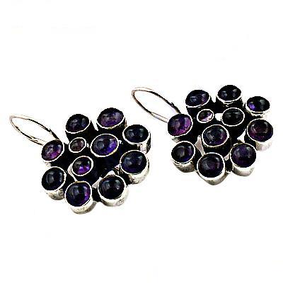 Lastest Luxury Amethyst Gemstone Silver Earrings Product Code:AGER-20012 Our Price:              US $ 12.67 Total Gross Wt:10.000 Gms  #925SterlingSilverGemstoneEarring #MultiStoneEarring #JewelleryForGift #NewArrival925SilverEarring #I - by Art Palace Manufacturer Of Jewellery, Jaipur
