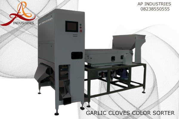 An ISO 9001-2008 Certified APS Industries is One Of the Manufacturer in India For Fresh Garlic Color Sorter with Use of high Quality Resolution Cameras and High Extension Solonaid Valves for detacting Unused Garlic Cloves into Fresh Garlic Cloves.