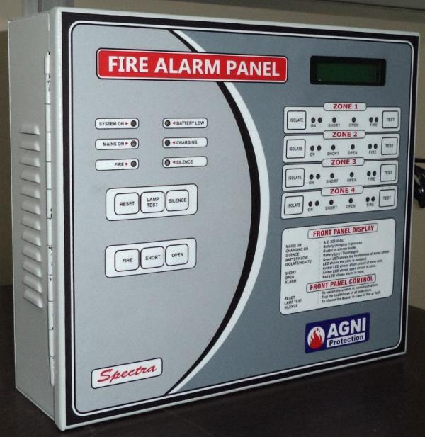 2 To 8 Zone Fire Alarm Panel   Spectra 2 Zone Micro Controller Based Fire Alarm Panel Expandable Upto 4 Zones Compact Design Good Looking Panel.   We Are The Leading Manufacturer Of 2 To 8 Zone Fire Alarm Panel In Delh
