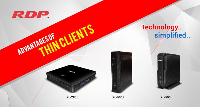 <br/>Advantages of Thin Clients In Education & Corporate Industry  <br/><br/>(Thin Clients Uses | Thin Client Prices | Thin Clients in India)<br/><br/>Thin Clients are Substitute to PC's with its ample of advantages, blazing performance and Intuitive Manageability. Thin Clients are designed to utilize the maximum resources of the System.<br/><br/><br/>Thin Clients are widely Used in Educational Institutions to bring Computing technology for the students to provide  dynamic learning & making the Students abreast with Contemporary Changes in Real Time. Thus able to Possible only with Thin Clients that brings the technology to every desk.<br/> <br/>Thin Clients are affordable in terms of Hardware and  Software compared to PC and apart from that Thin Clients are less chances of getting problems, if the system crashes its recovery is faster and lessens the end of technical assistance for any problem or recovery. If they allow students to analyze real data in their research without modifying or removing data either deliberately or unconsciously.  Users can get same application and performance from wherever they log in the lab <br/><br/>Coming to Corporate, Thin Clients are more popular and widely used because of its better security and enhancements besides that Everything is centralized. Thin Client Computing is the Best & Affordable way for BPO's, SME's, Corporates and other Enterprises, Instead of  replacing the hardware or software in hundreds of PC's it makes sense to switch to centralized managed Thin Clients Environment. - by RDP, Mumbai
