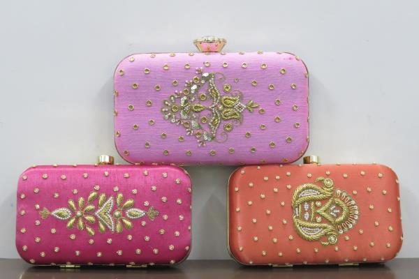 Pretty in Pastels! Beautifully handcrafted Pastels Box Clutches!