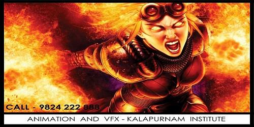 Animation & VFX Careers:  The #Animation & VFX industry is expected to grow at 20% to reach Rs. 60% billion* by #2015. VFX & post-production services, meanwhile, are expected to grow at 20% and 17% respectively*. Due to the tremendous growth of this industry, it is creating great career opportunities for trained & talented people. Get the right training at KALAPURNAM INSTITUTE and prepare for a creative career in VFX, Animation, #Gaming and #Media & Entertainment, Graphic & Web designing industry.