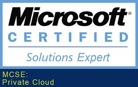 MCSE: Private cloud certification will enable you for different kinds of jobs as server administrator, systems programmer, and network manager. Initially it has three papers 410, 411, 412. After successfully completed these three papers you will get Microsoft Certified Solution Associate (MCSA).After that you have to pass two papers 246, 247 and earn certification of MCSE. Prakshal IT-Academy is an authorised partner of Microsoft who provides you best training on MCSE. For more details visit www.prakshal.com