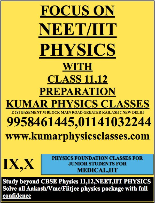 FOCUS ON  NEET/IIT PHYSIC