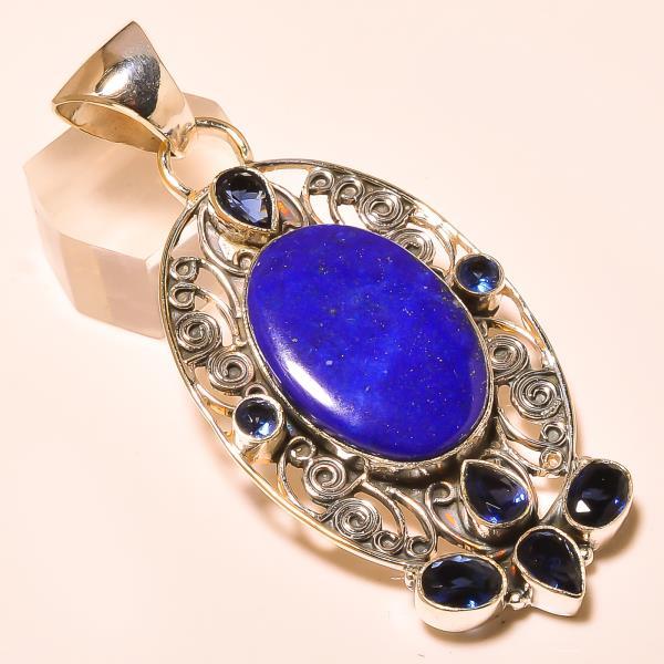Pendant Silver Pendant lapis lazuli gemstone pendant in india