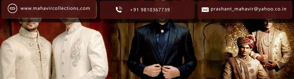 Buy the latest men's Sherwani at affordable prices. Choose from elegant styles and colors that are sure to impress....read more information visit our site......http://www.mahavircollections.com