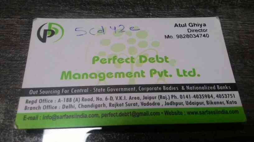Perfect Debt Management pvt ltd - by Perfect Debt Management PVT LTD, Jaipur