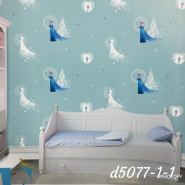 Wallpaper For Girl Room This Imported Wallpaper Gives A Sober - Blue wallpaper for girls bedroom