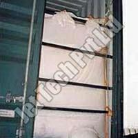 The Dry Bulk Container Liner is a bag of the size of a standard 20 feet, 30 feet or 40 feet ISO container. The liner lines the inside of the container walls and hence the packed material is safer than in any sack or FIBC (Jumbo bags/Big Bags/1 ton bags). The walls of the container support the weight of the material packed and therefore there are no chances of material damage or loss. The liner bag is placed inside the ISO container and fixed by straps/loops provided on the liners to all sides of the container. The material is stuffed thru loading ports provided on the front side of the liner. After filling the port is tied or stitched closed. To prevent the bulging of the liner after the material has been filled there are various provisions.  we are leading manufacturing Dry Bulk Container Liner in ahemadabad, gujarat