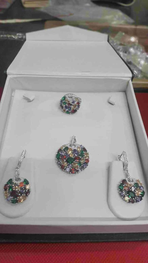sterling silver 92.8 pandent set - by TKD Jewellers, Hyderabad