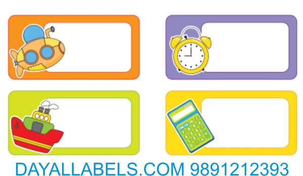 SCHOOL LABELS & SCHOOL STICKERS  IN DELHI We are manufacturing school labels also for custom design. for more detail call or whatsap 9891212393 Labels for Branding Labels for schools Labels for Promotion Labels for Detailing Labels in Gurga - by Wall Decal  | Dayal labels, Delhi