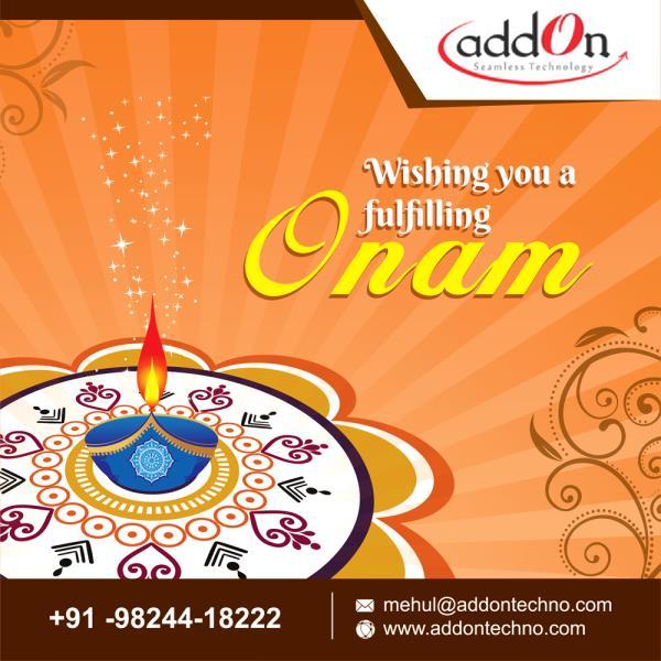 "Addon Technology Wishing Everyone ""Happy Onam"" #happyonam - by Addon TECHNOLOGY, vadodara"